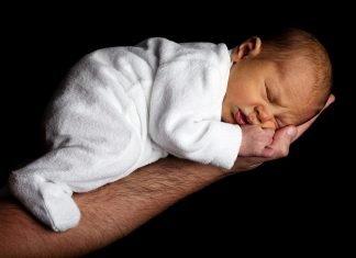 Baby Pflege Kinder Niedlich Hand Gesicht Schlafen