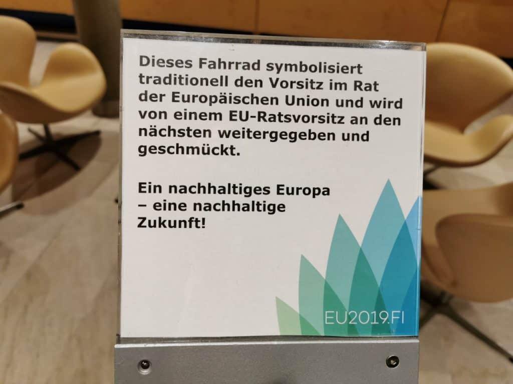 Fahrrad EU Vorsitz 2019 Finnland