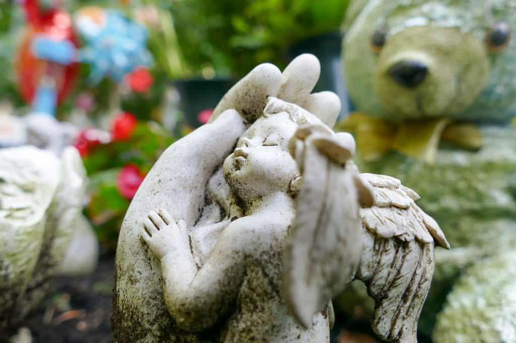 Engel Tod Kind Grab Friedhof Bunt Trauer