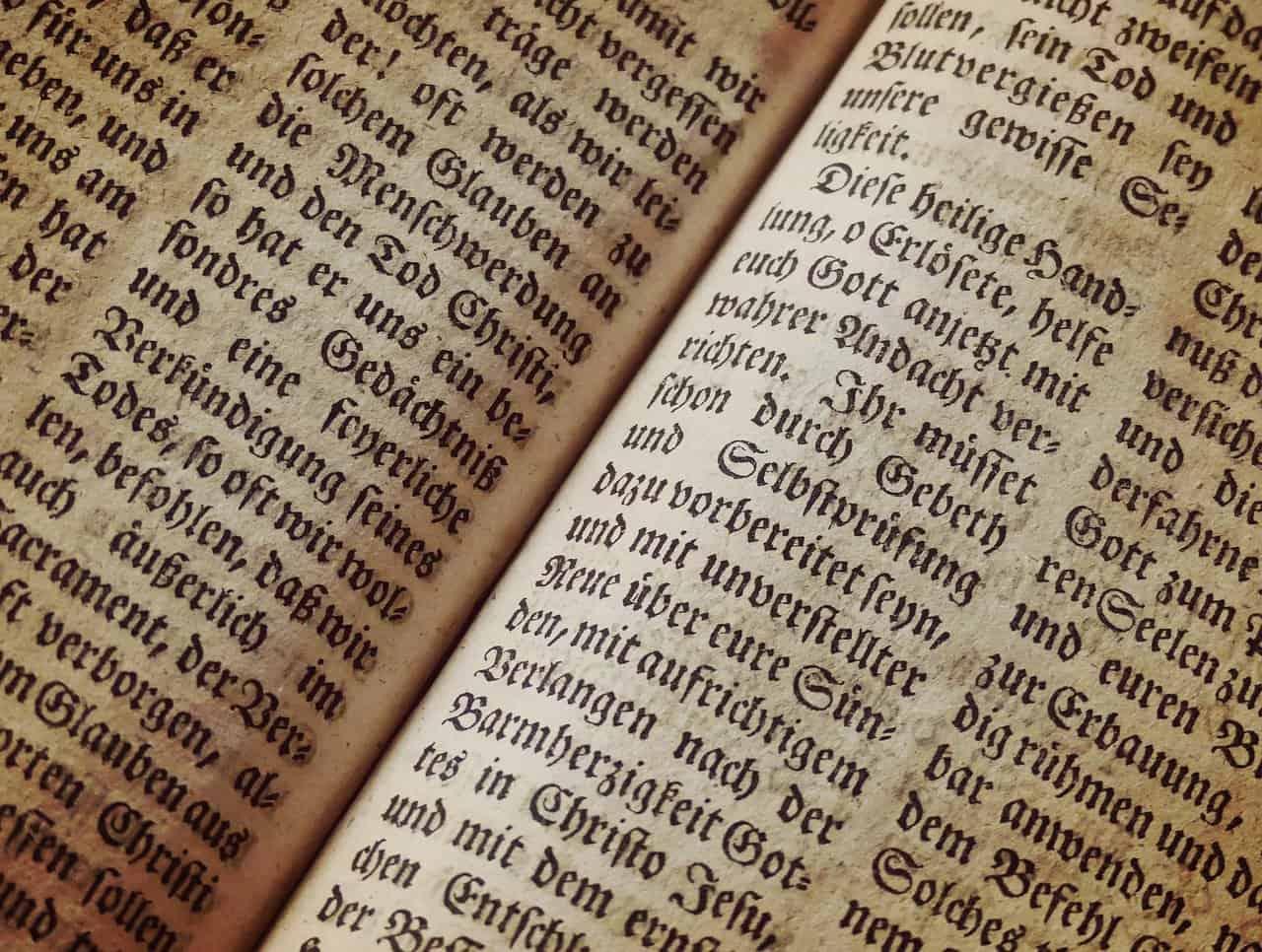 Bibel Buchseite Schrift Textur Hintergrund Buch