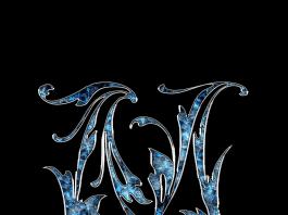 Letter Letter M M Initials Schreiben Schriftart