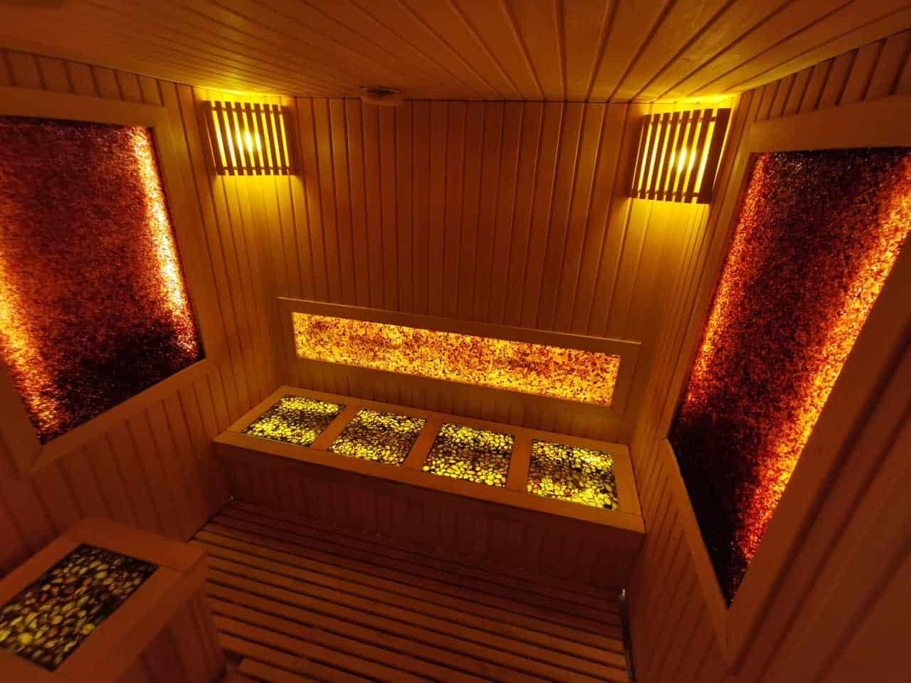 Das Bernsteinzimmer - Sauna in Egles Spa (Spa Hotel in Litauen)