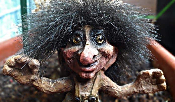 troll abbildung ornament norwegen gesicht krasnal