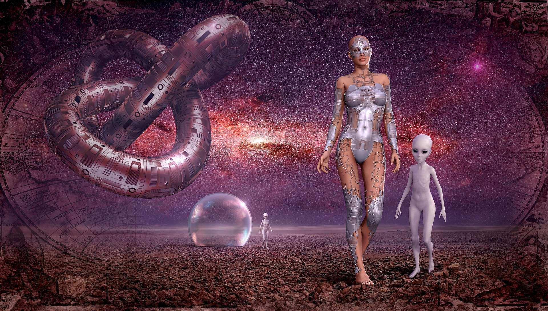 fantasy weltall galaxie alien kontakt