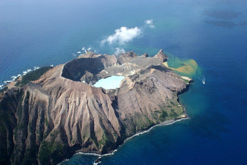 Te Puia o Whakaari, Vulkan vor dem Vulkanausruch auf White Island ; vulkan neuseeland white island vulkanisch nordinsel