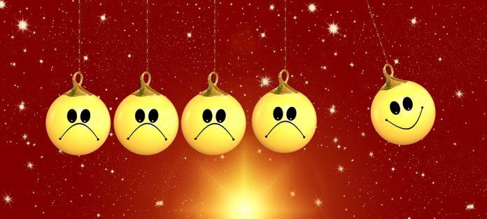 Weihnachten Glücklich Positiv Emotionen Kugel Ball