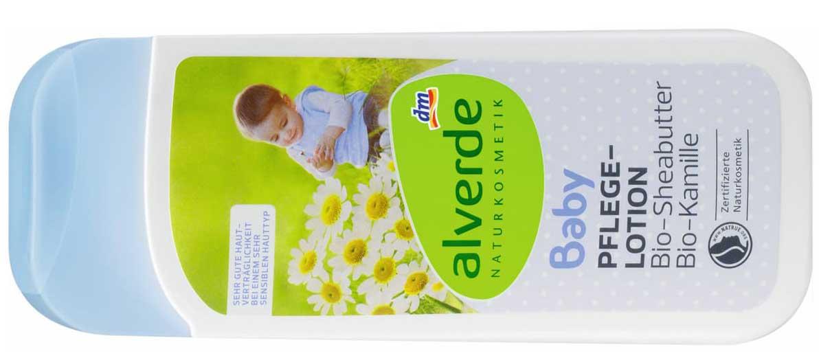 """Verbraucherinformation: dm ruft vorsorglich den Artikel """"alverde Baby Pflegelotion Bio-Sheabutter Bio-Kamille"""" zurück Foto DM PRESSE"""