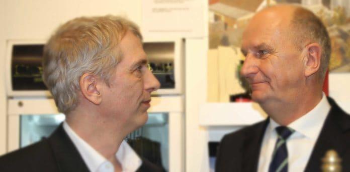 Dietmar Woidke Ministerpräsident Brandenburg 2020 im Gespräch mit Stefan Fritsche auf der Grünen Woche