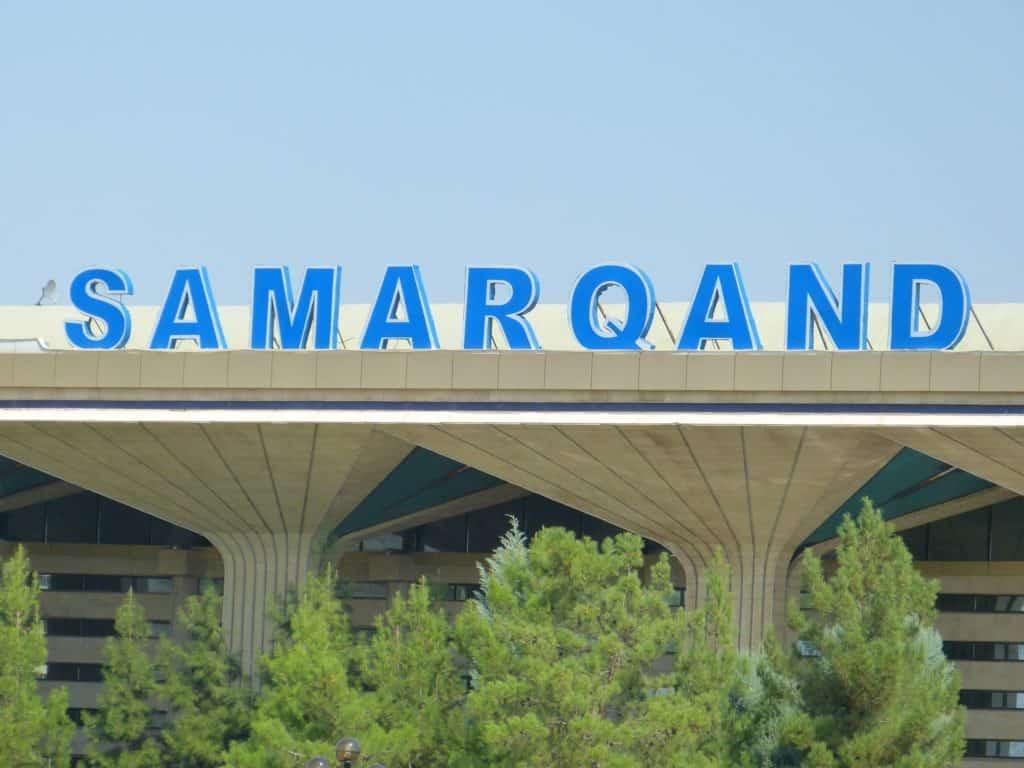Bahnhof Samarkand in Usbekistan