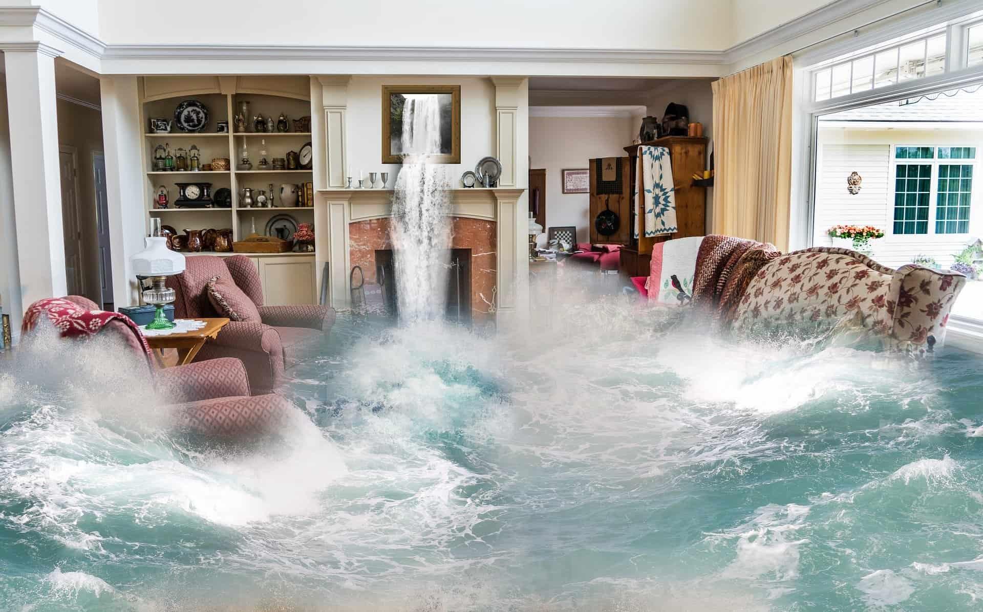 überschwemmungen surreal wohnzimmer design fantasie