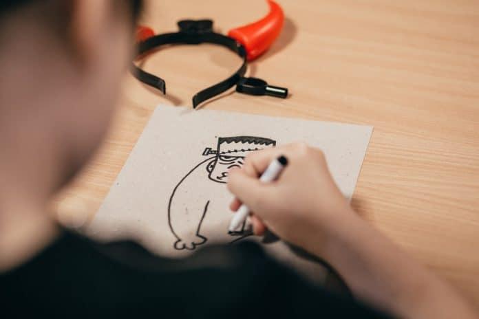 menschen kunst schwarz cartoon kinder schreibtisch