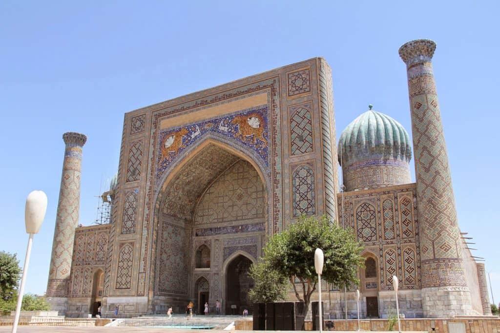 Moschee Ssamarkand Der Registan in Usbekistan