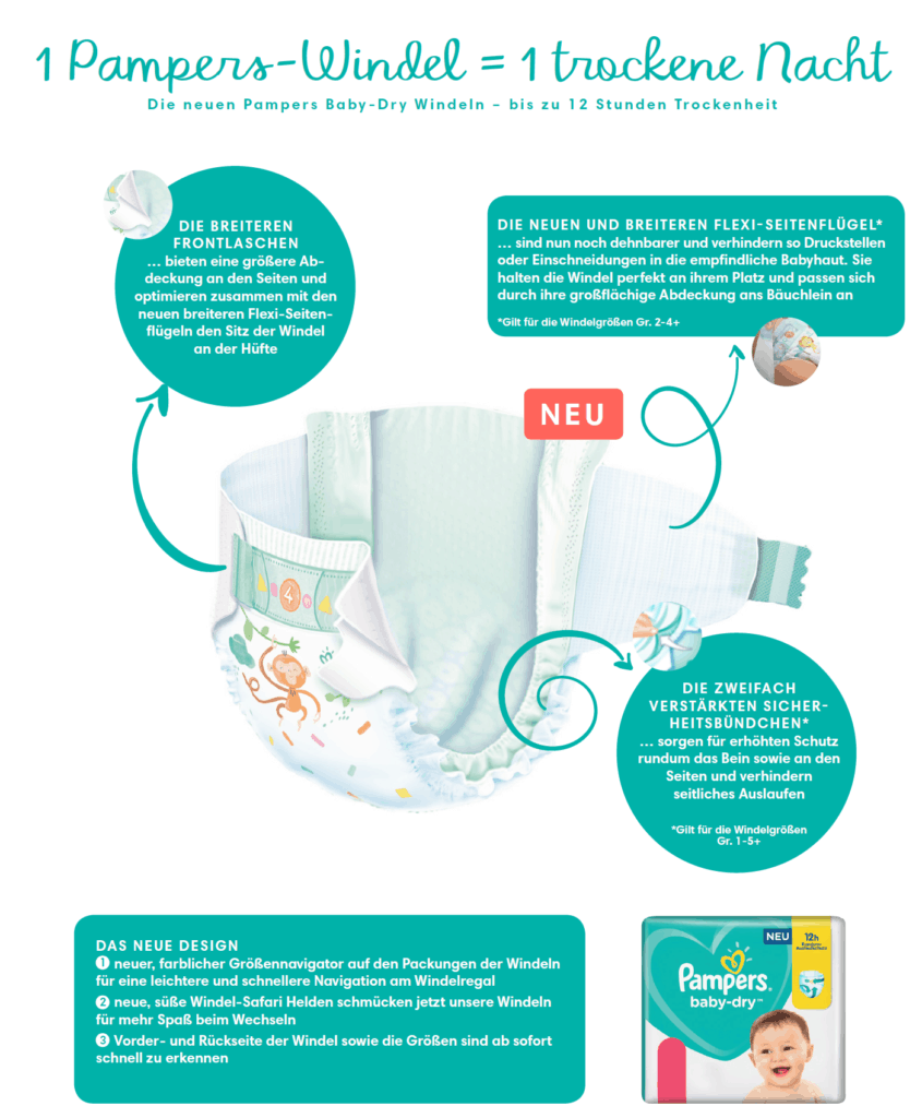 5 Fakten zum Schlaf Deines Babys und was die neuen Pampers Baby-Dry Windeln damit zu tun haben. 2