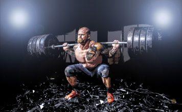 Brille Muskel Mann Gewichte Gymnastik Bruch Fit