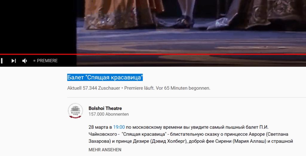 Weltrekord - 60.000 Menschen im Bolschoi Ballet gleichzeitig - trotz Corona 1