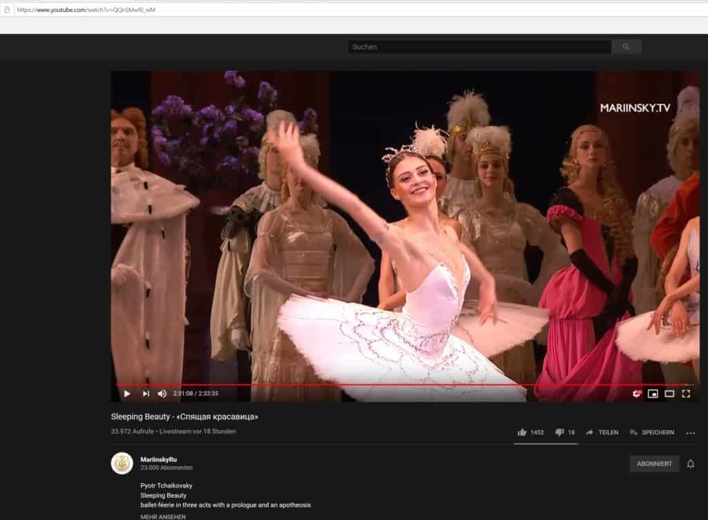 Mariinsky Theater Moskau - Ballet: Sleeping Beauty - «Спящая красавица» - Spyashchaya krasavitsa - Dornröschen
