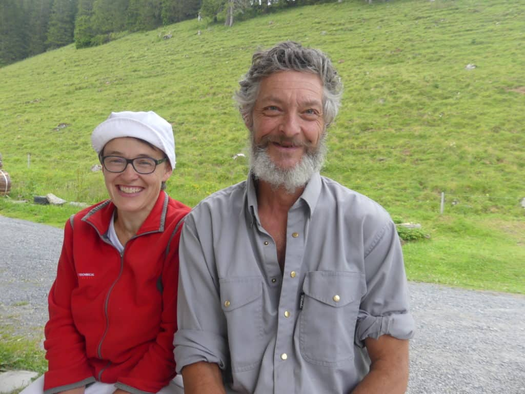 Alpkäserpaar Rosmarie und Edy