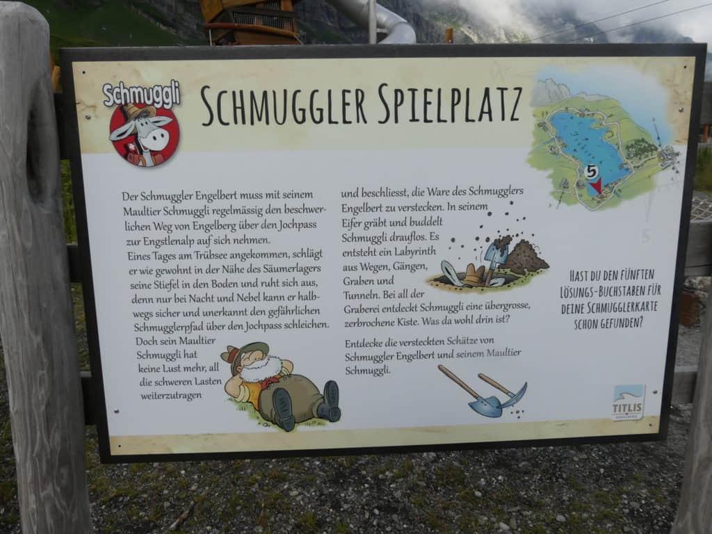 Spielplatz Info-Tafel