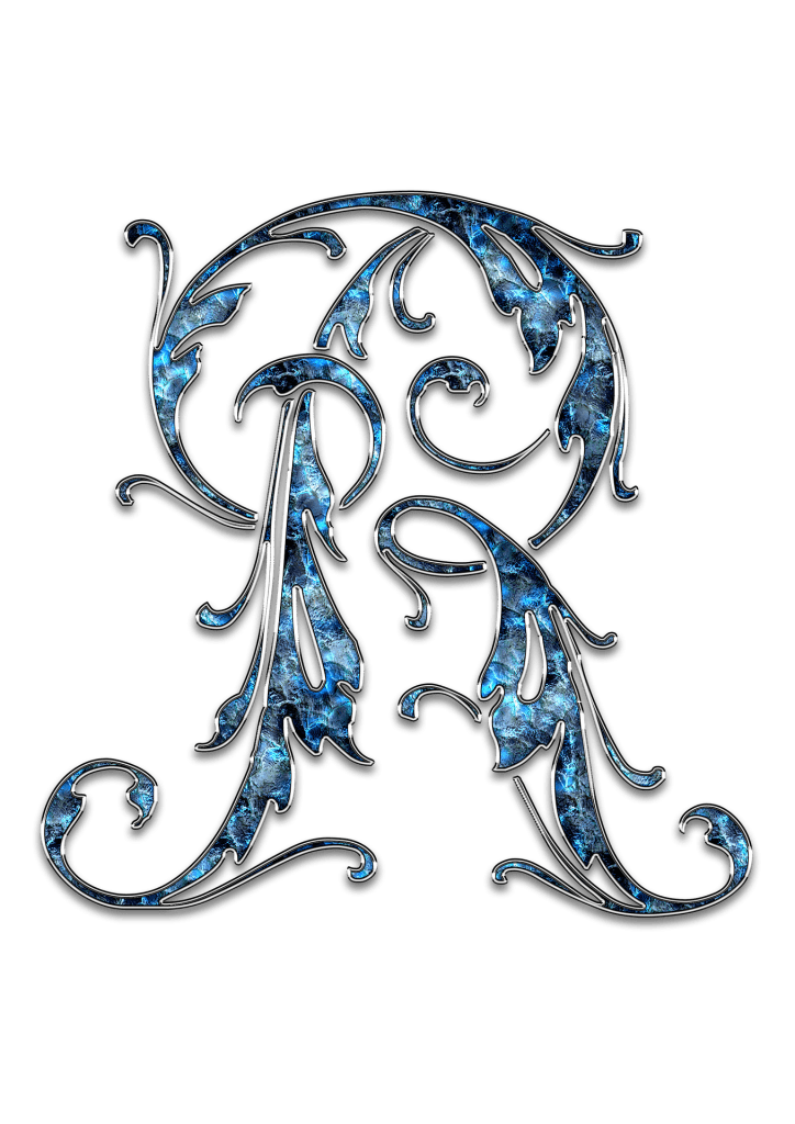 Letter Letter R R Initials Schreiben Schriftart