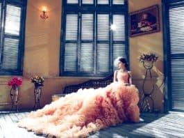 Brautkleider Braut Rosa Elegant Extravagante