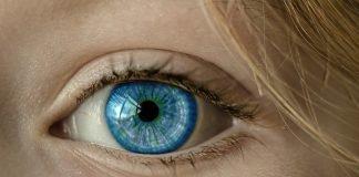Auge Blaue Augen Iris Pupille Gesicht Nahaufnahme