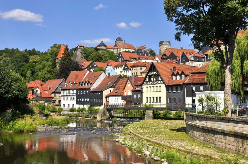 kronach,mittelalterliche stadt,im frankenwald,deutschland,