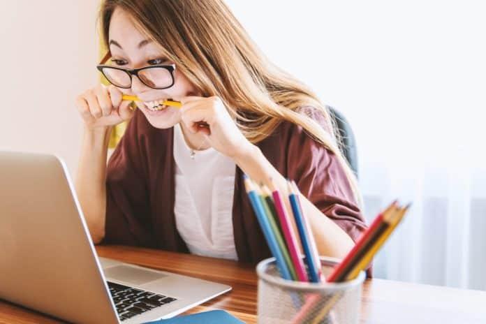 Laptop Frau Bildung Studie Jung Computer Schöne