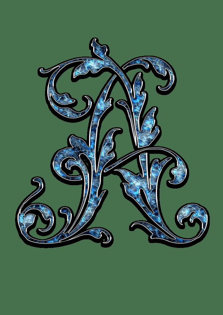 Letter Letter a A Initials Schreiben Schriftart