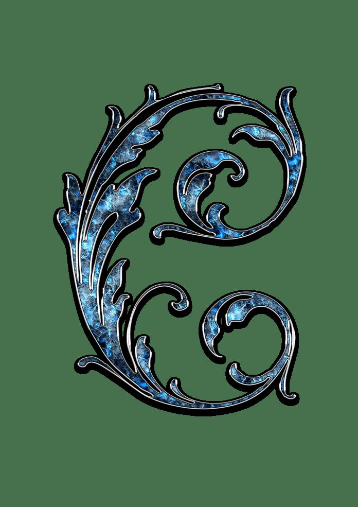 Letter Letter C C Initials Schreiben Schriftart