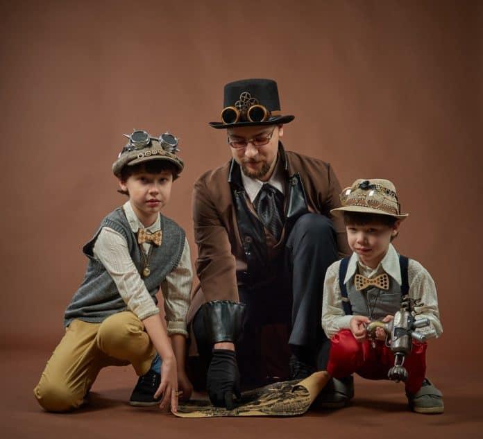 Steampunk Kinder Mann Herren Die Räuber Jahrgang