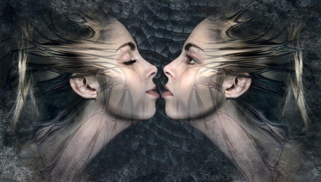 fantasy, zwillinge, kuss