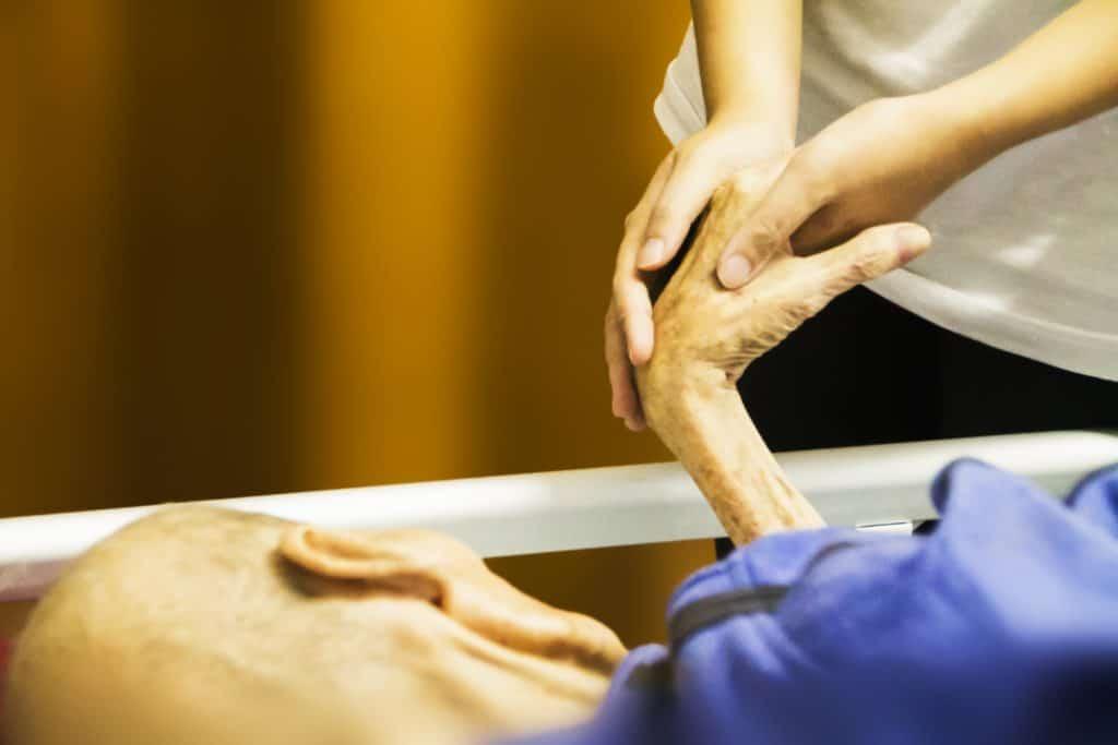 hospiz, hand in hand, hand hält