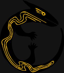 Kinder-Tattoos zum Kleben: eidechse, reptil, runde