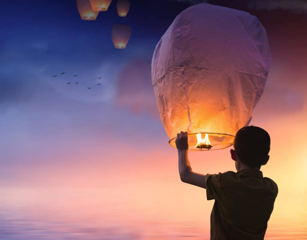 Himmelslaternen tabu auch ohne Sylvester Regeln Corona; ballon, chinesischen laternen, laterne