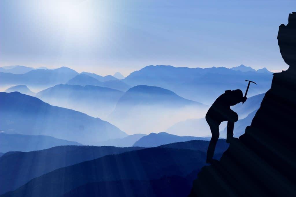 klettern, bergsteigen, erfolg