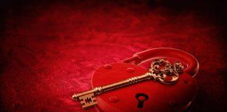 herz-sperre, schlüssel, valentinstag