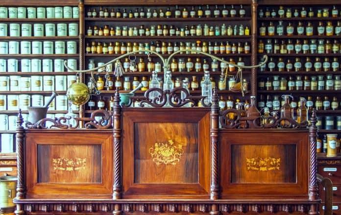 Apotheke Tresen Medizin Historischer Apothekentresen