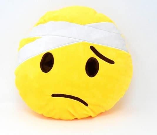 Smiley Gesicht Emoticon Traurig Krank