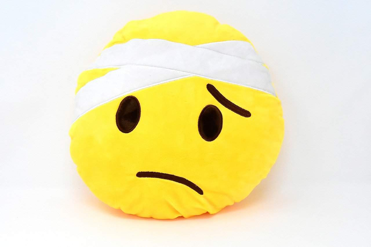 Smiley Gesicht Emoticon Traurig Krank