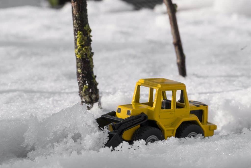 schnee, winter, straße