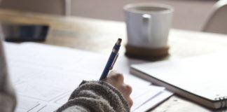 hartz iv, schreiben, person, papierkram