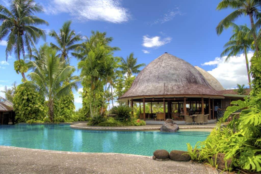 resort, samoa, schwimmbad