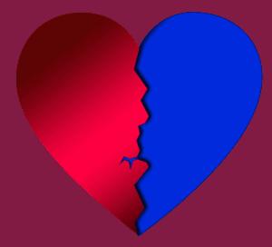 Broken-Heart-Syndrom, herz, zerrissen, gerissen