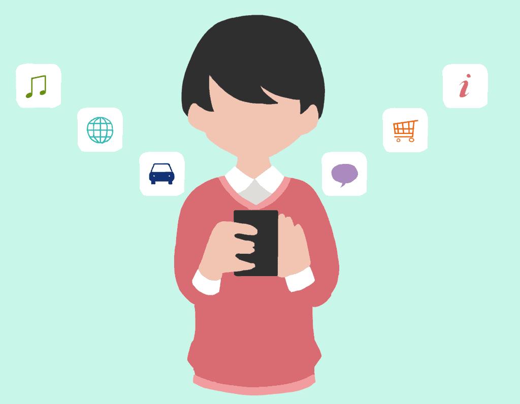 Service-Apps, smartphone, app, japanisch