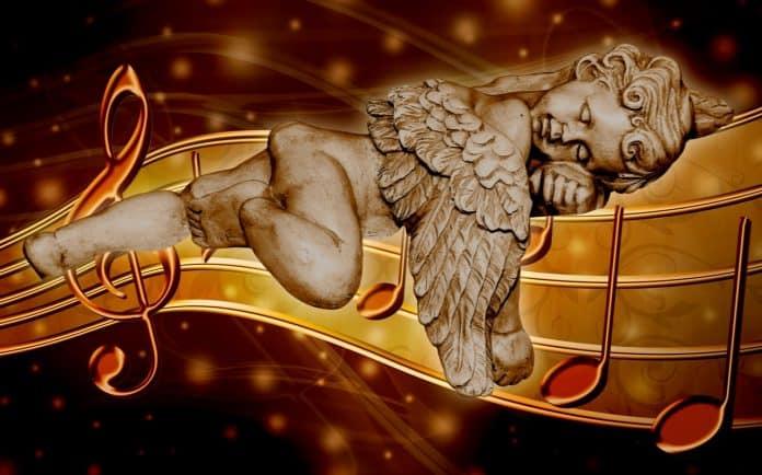 engel traum noten musik schlaf figur stimmung