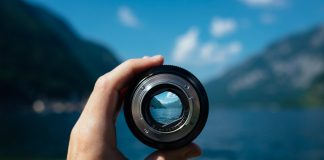 linse kamera objektiv fokus mit schwerpunkt