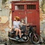 Motorradfahren mit Kindern, motorräder, frau, graffiti