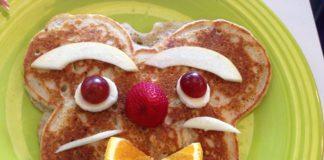 Pfannkuchen Gesicht Frühstück Brunch Lebensmittel