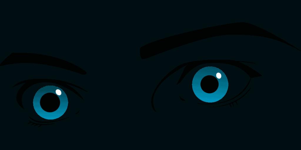 Behandlung von geschwollenen Augen, augen, augenbrauen, starrte