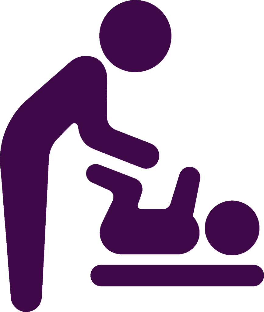 wickeltisch, baby, symbol